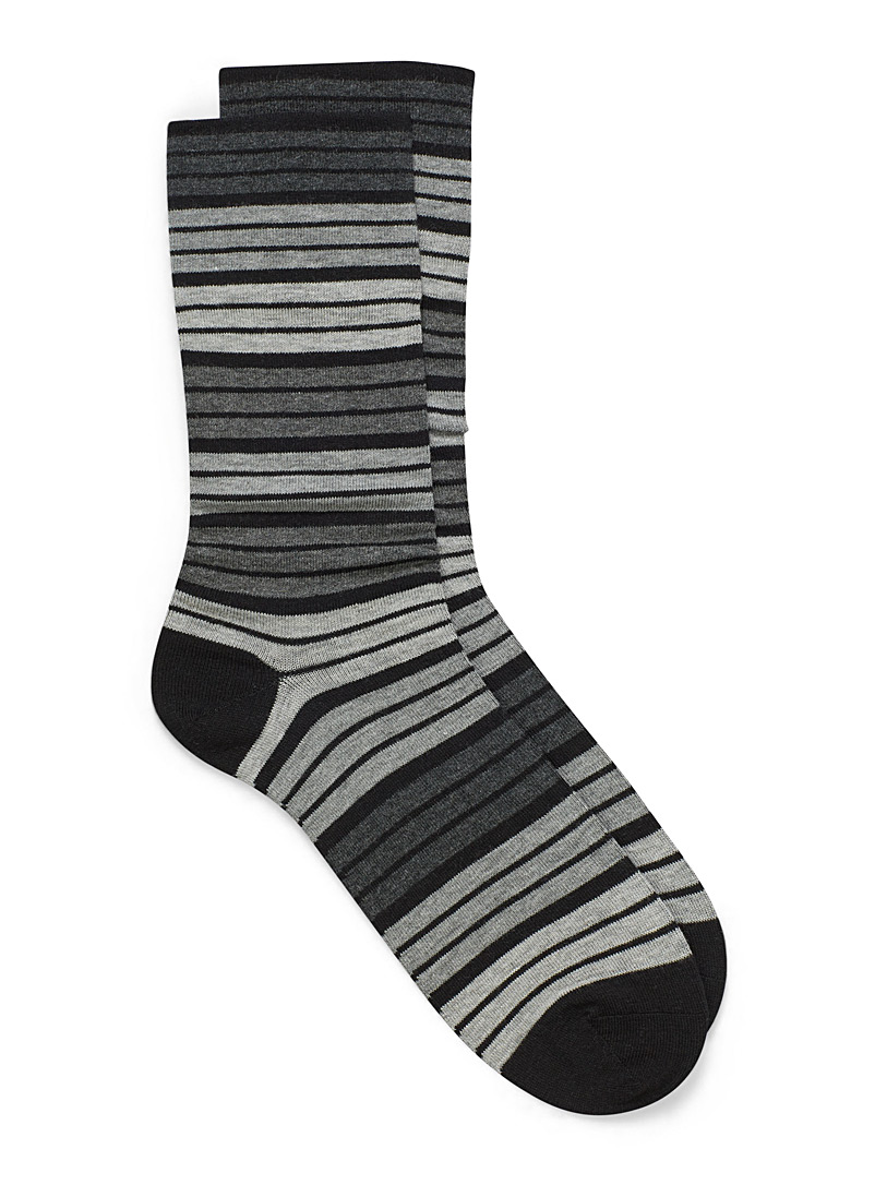 McGregor Black Elastic-free dress socks for men