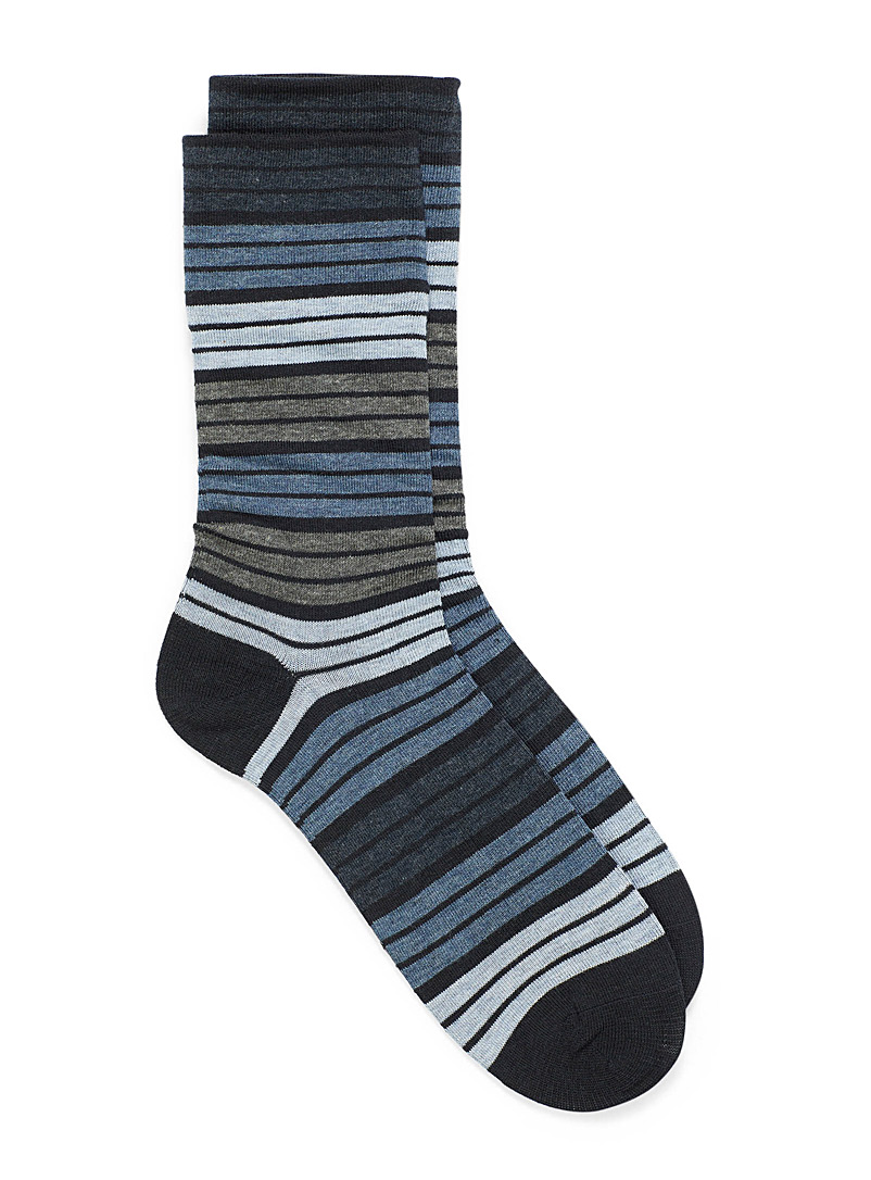 McGregor Marine Blue Elastic-free dress socks for men