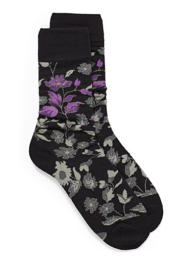Accent flower socks