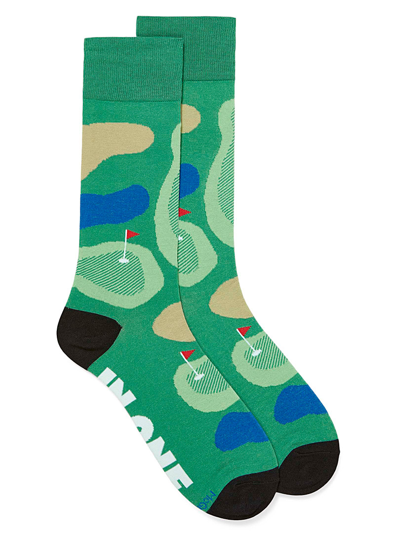 McGregor Patterned Green Golf course socks for men