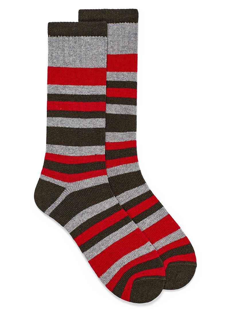 McGregor Patterned Grey Striped work socks for men