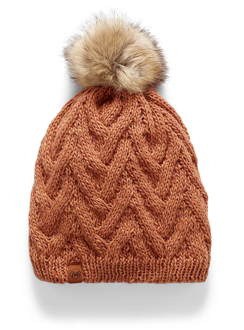 Buff Dusky Pink Caryn tuque for women
