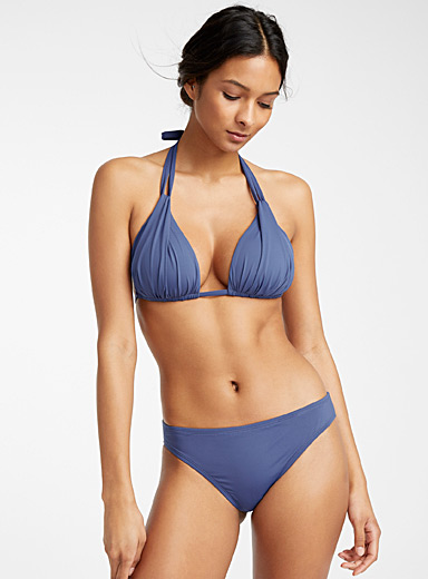 La Blanca Blue Moulded triangle top for women