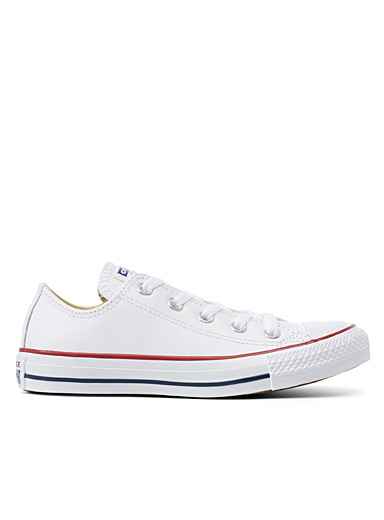 Chuck Taylor All Star white leather sneakers  Women