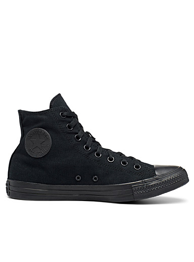 Monochrome Chuck Taylor sneakers <br>Men