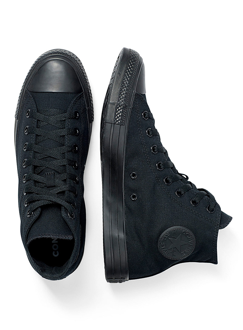 Converse Black Chuck Taylor All Star High Top all-black sneakers Men for men