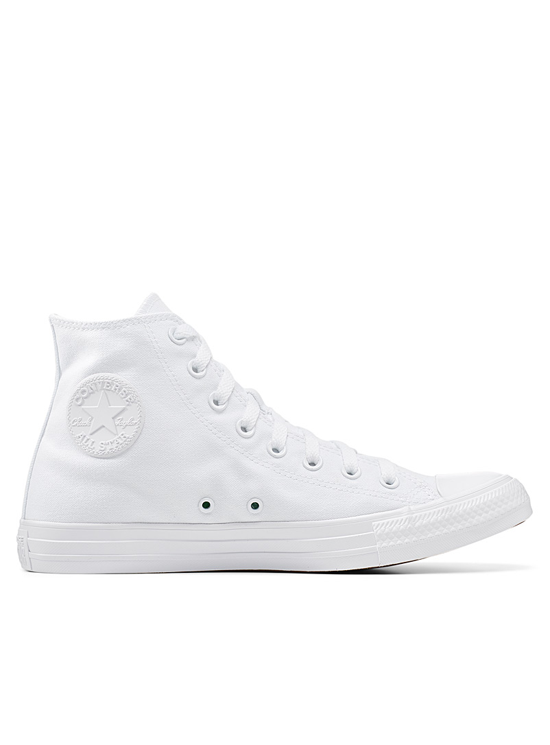 Converse: Le sneaker Chuck Taylor All Star High Top monochrome  Homme Blanc pour homme