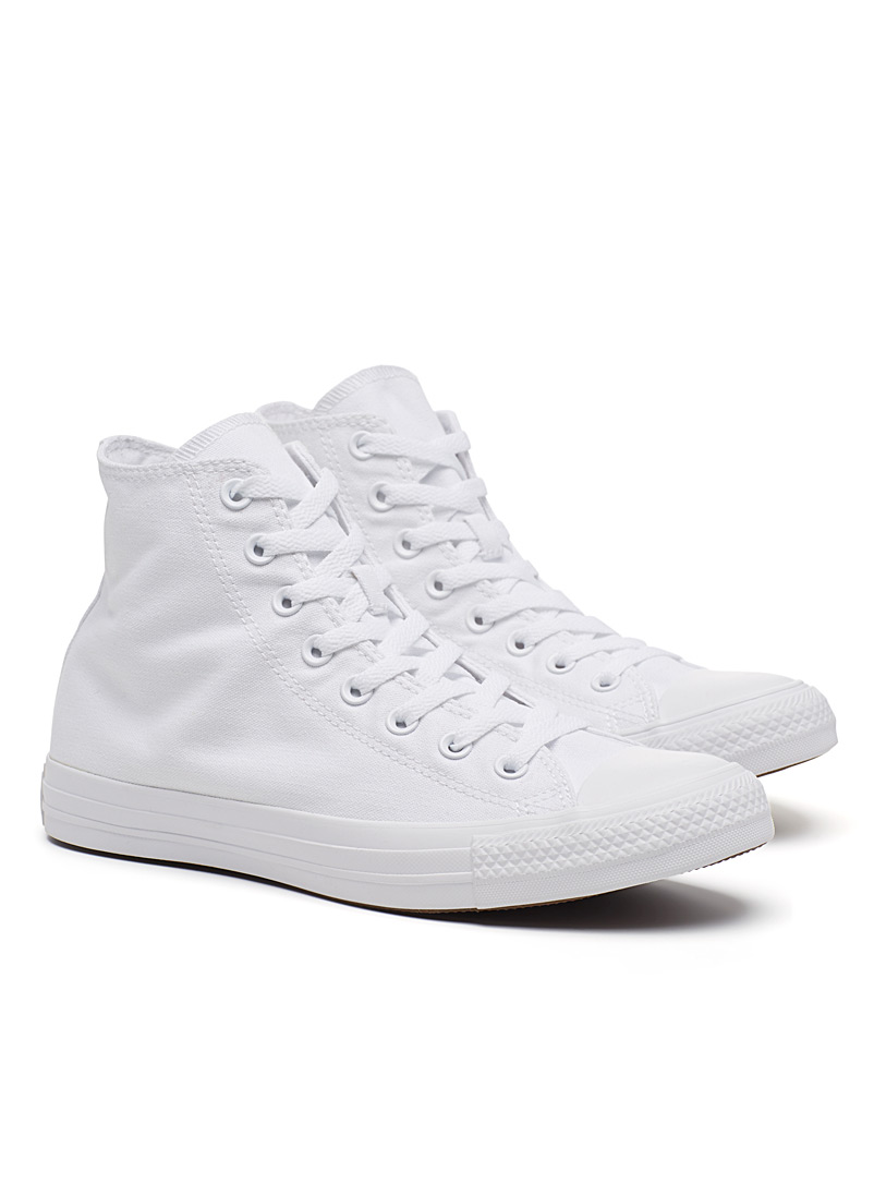 Converse White Chuck Taylor All Star High Top monochrome sneakers  Men for men