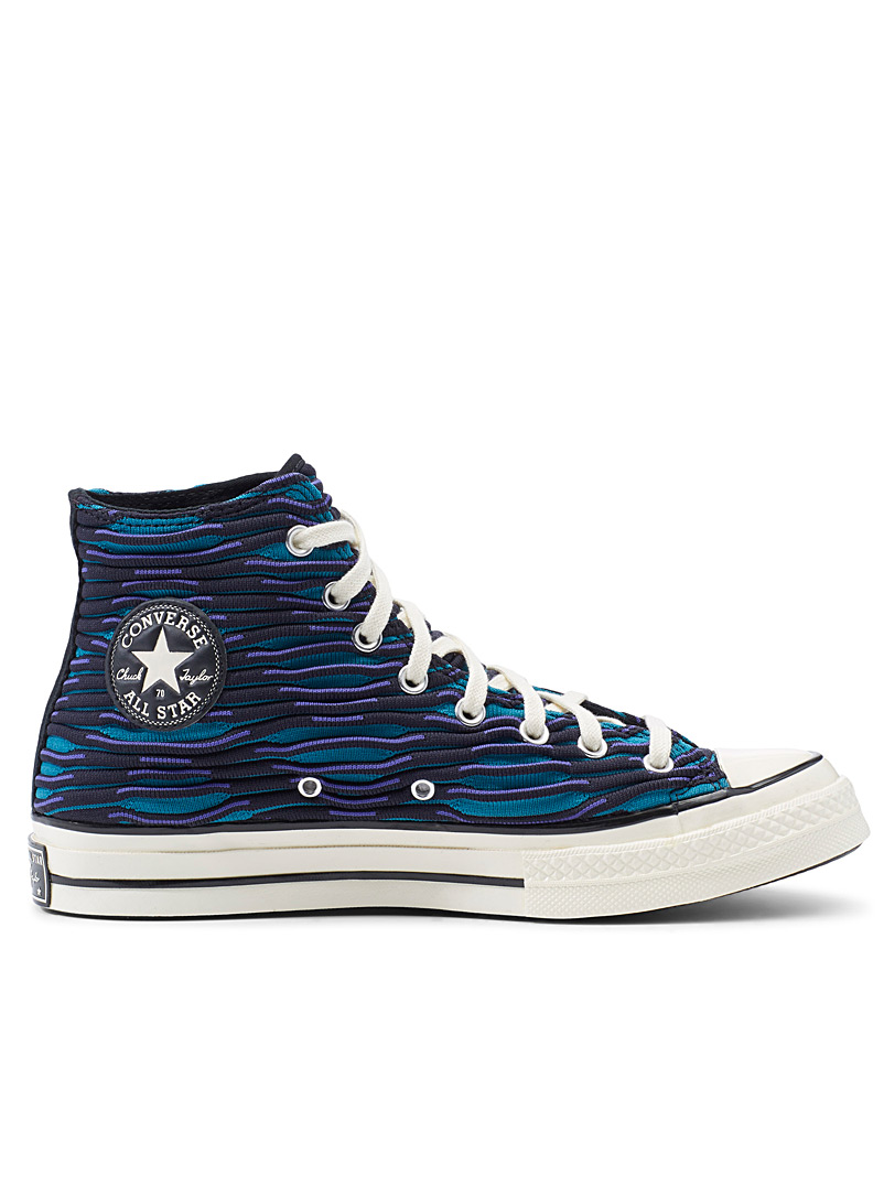 Converse Blue Chuck 70 High Top space-dye knit sneakers  Men for men