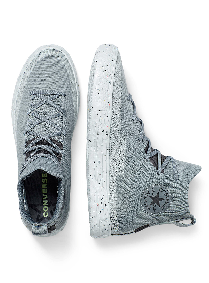 Converse Grey Chuck Taylor All Star Crater Knit High Top sneakers Men for men
