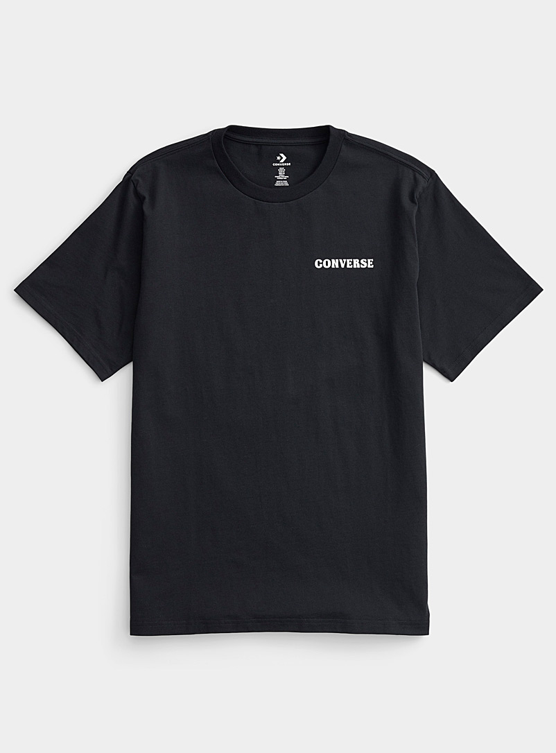 Converse Black Panorama back T-shirt for men