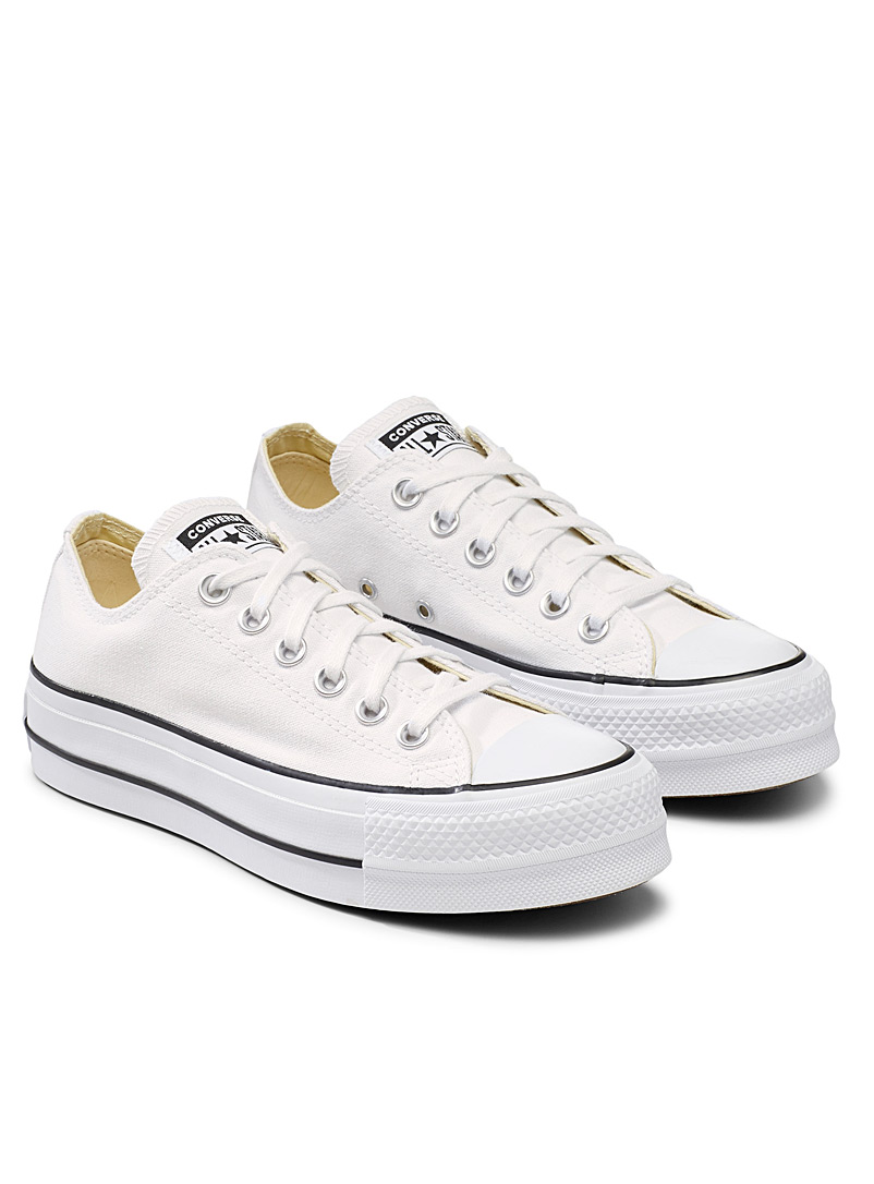Converse White Chuck Taylor All Star Lift Ox platform sneakers  Women for women