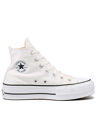 Le sneaker plateforme Chuck Taylor All Star High Top blanc <br>Femme