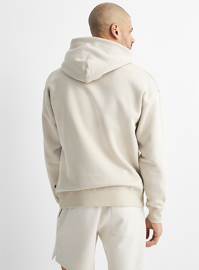 Converse Cream Beige Colourful embroidered logo hoodie for men
