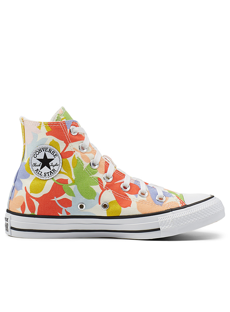 Converse Patterned White Chuck Taylor All Star High Top pop floral sneakers Women for women