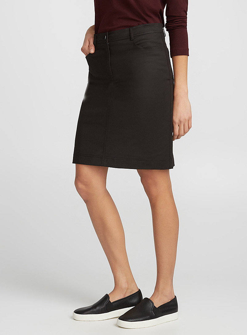Straight stretch skirt - Skirts - Black