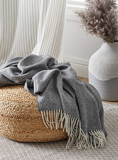 Faux-basketweave throw  55&quote; x 78&quote;
