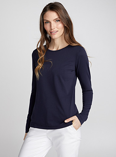Pima cotton long-sleeve tee