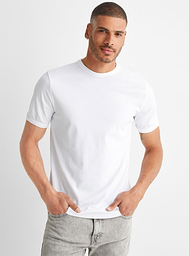 Tone-on-tone trimmed T-shirt