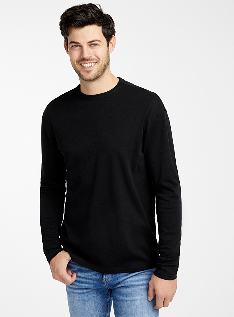Le 31 Black Pure pima cotton T-shirt for men
