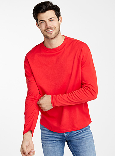 Le 31 Red Pure Pima cotton T-shirt for men