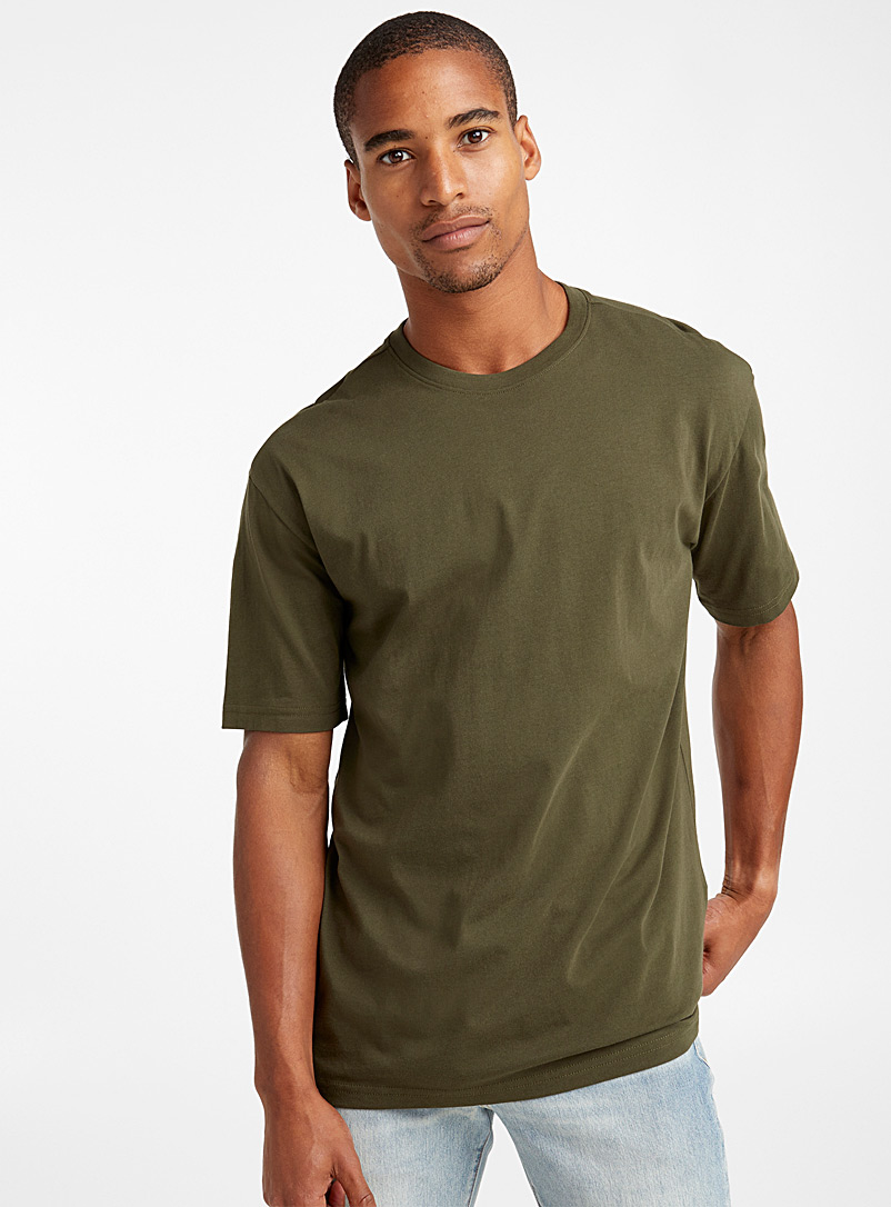 Pima cotton T-shirt - Basics - Mossy Green