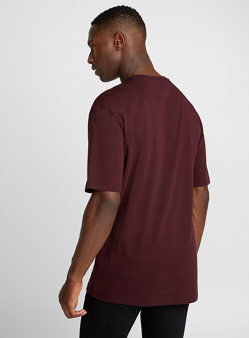 Pima cotton T-shirt - Short sleeves & 3/4 sleeves - Cherry Red