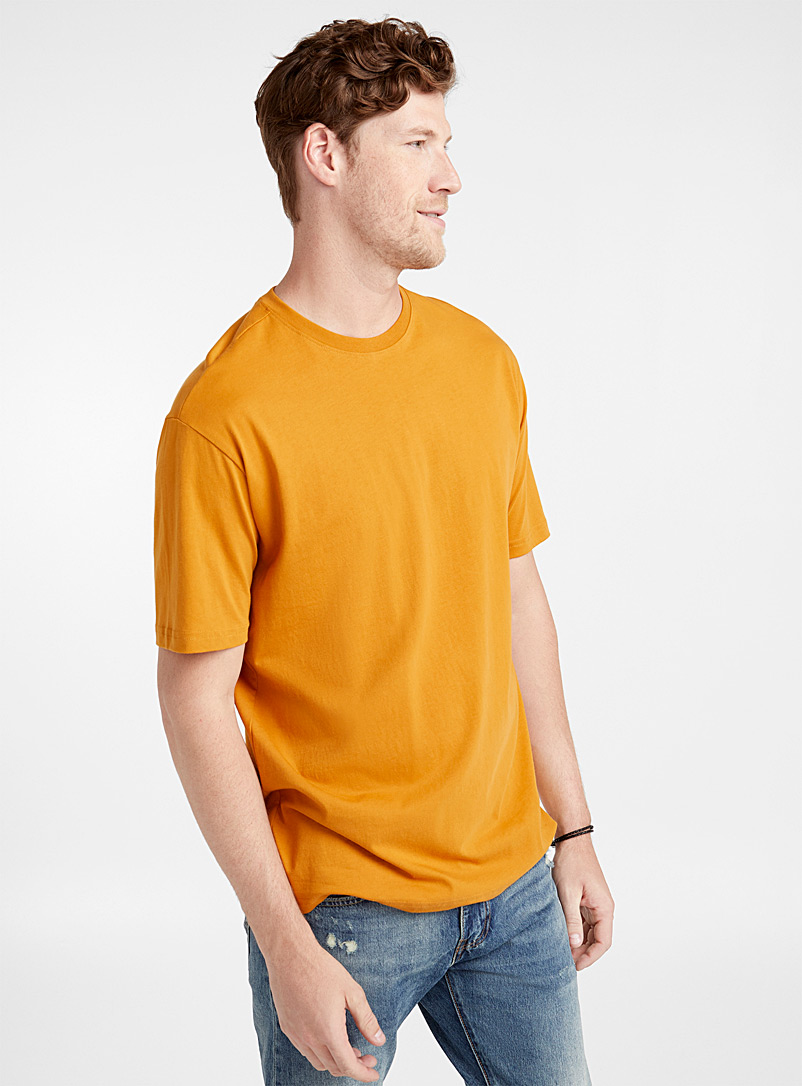 Le t-shirt coton pima - Manches courtes - Orange