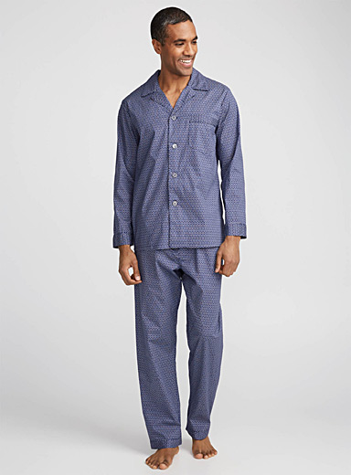 Geo-pattern poplin pyjama <br>Set of 2