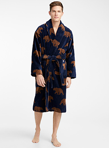 Brown bear terry robe