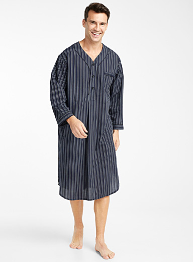 Vertical stripe night shirt