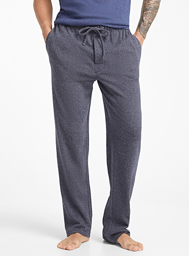 Mini herringbone heather lounge pant