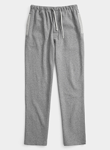 Le pantalon détente sweat accent chiné