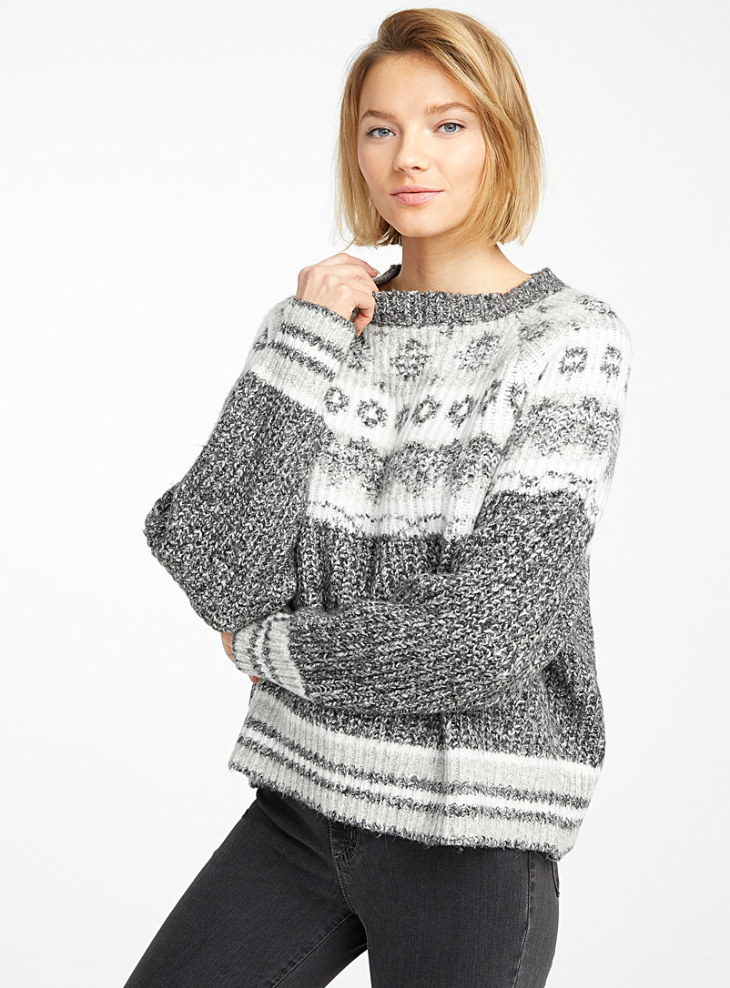 Shimmery Nordic jacquard sweater - Sweaters - Oxford