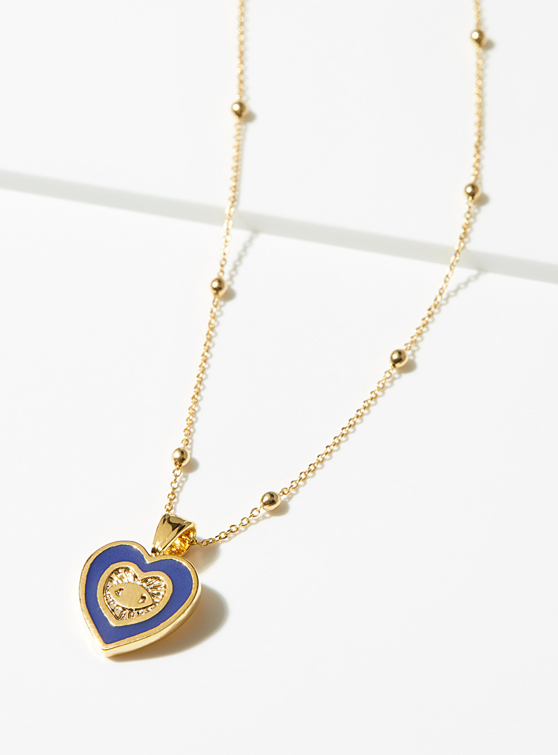 Simons Assorted  Seeing heart chain for women