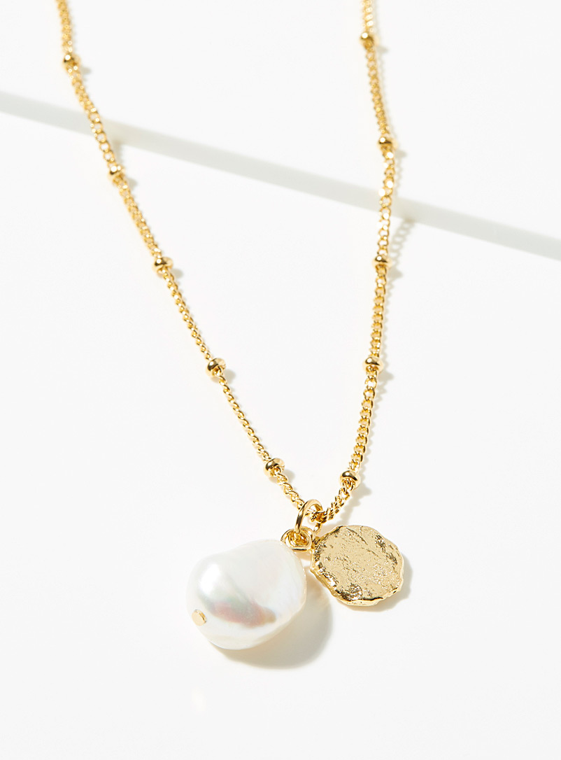 Simons Gold Idyllic beach necklace for women
