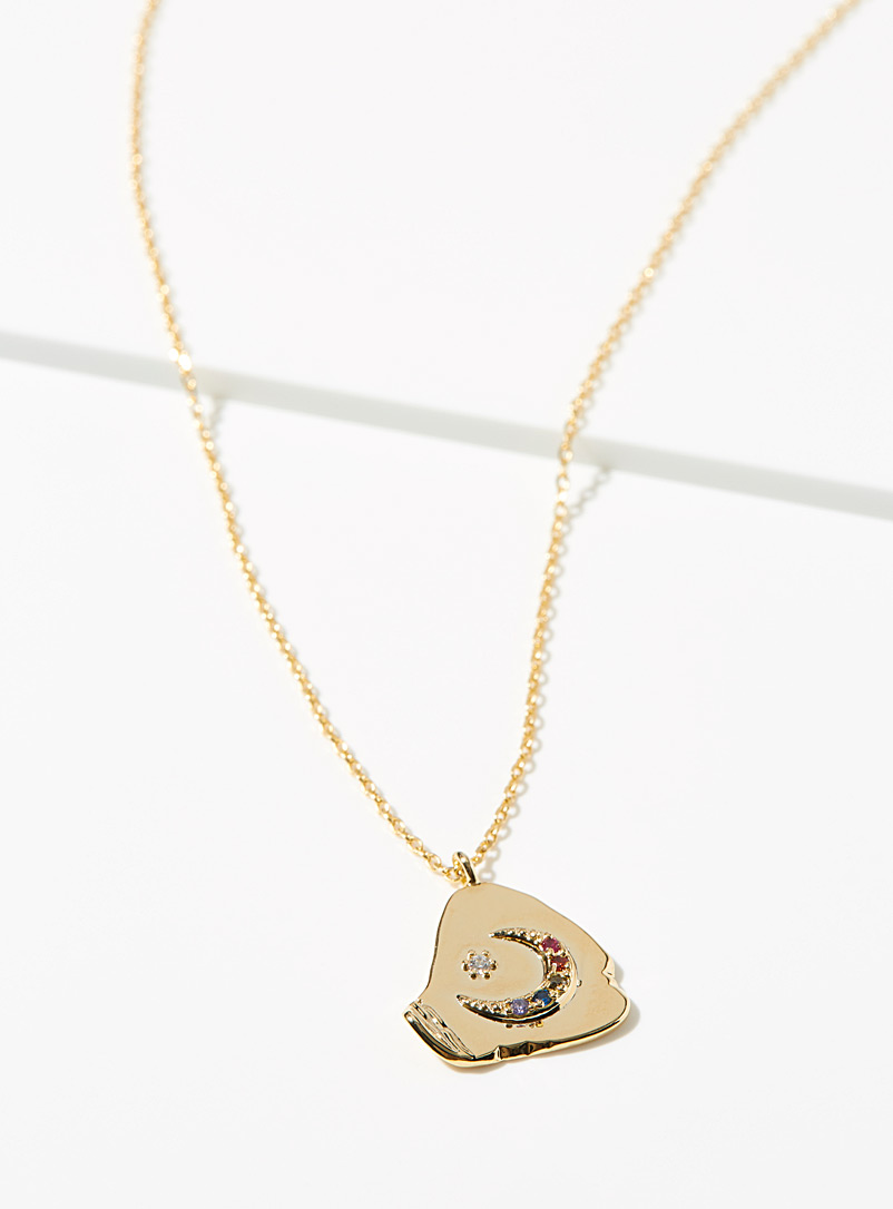 Simons Gold Starry moon chain for women