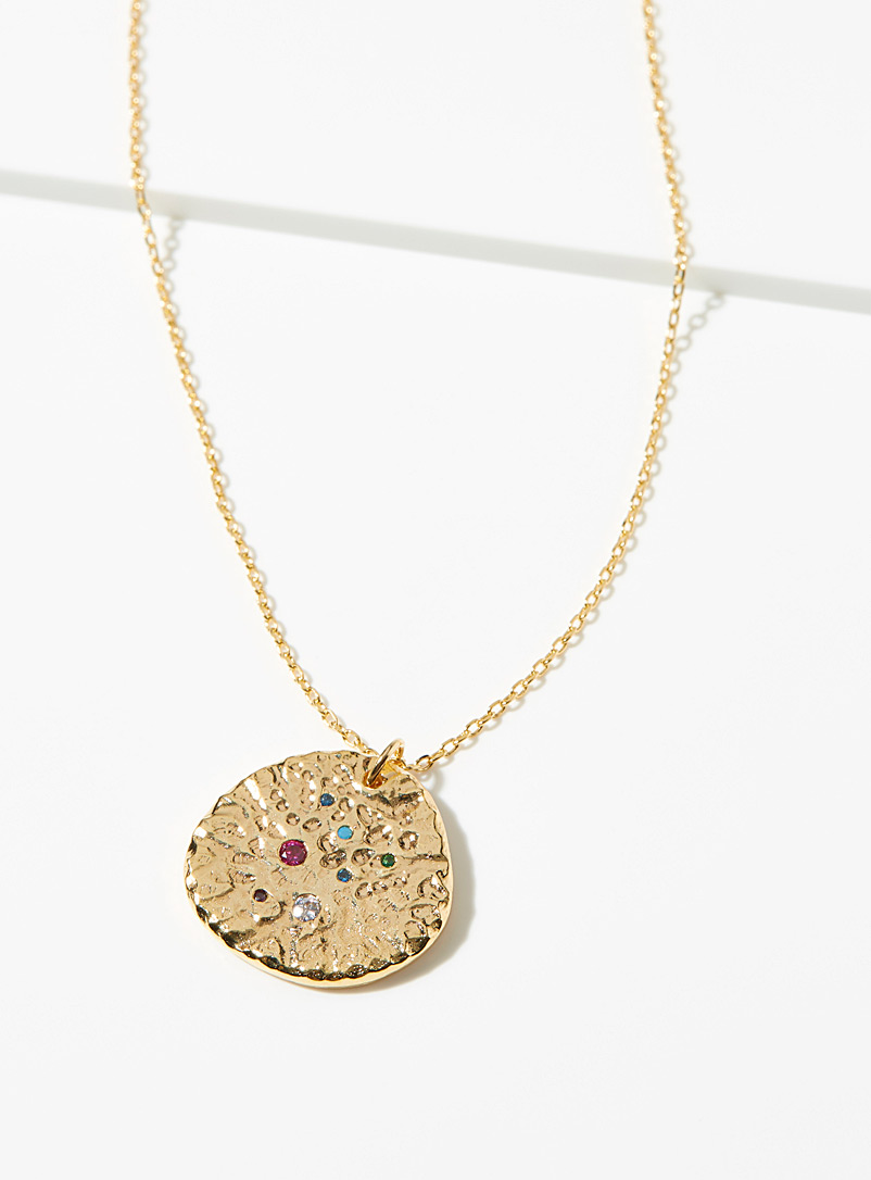 Simons Gold Starry pebble chain for women