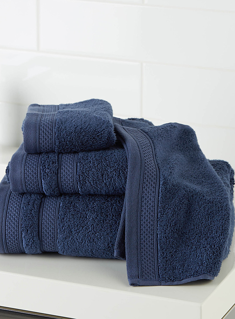 Cotton and modal towels - Solid - Dark Blue