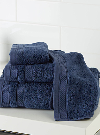 Simons Maison Dark Blue Cotton and modal towels