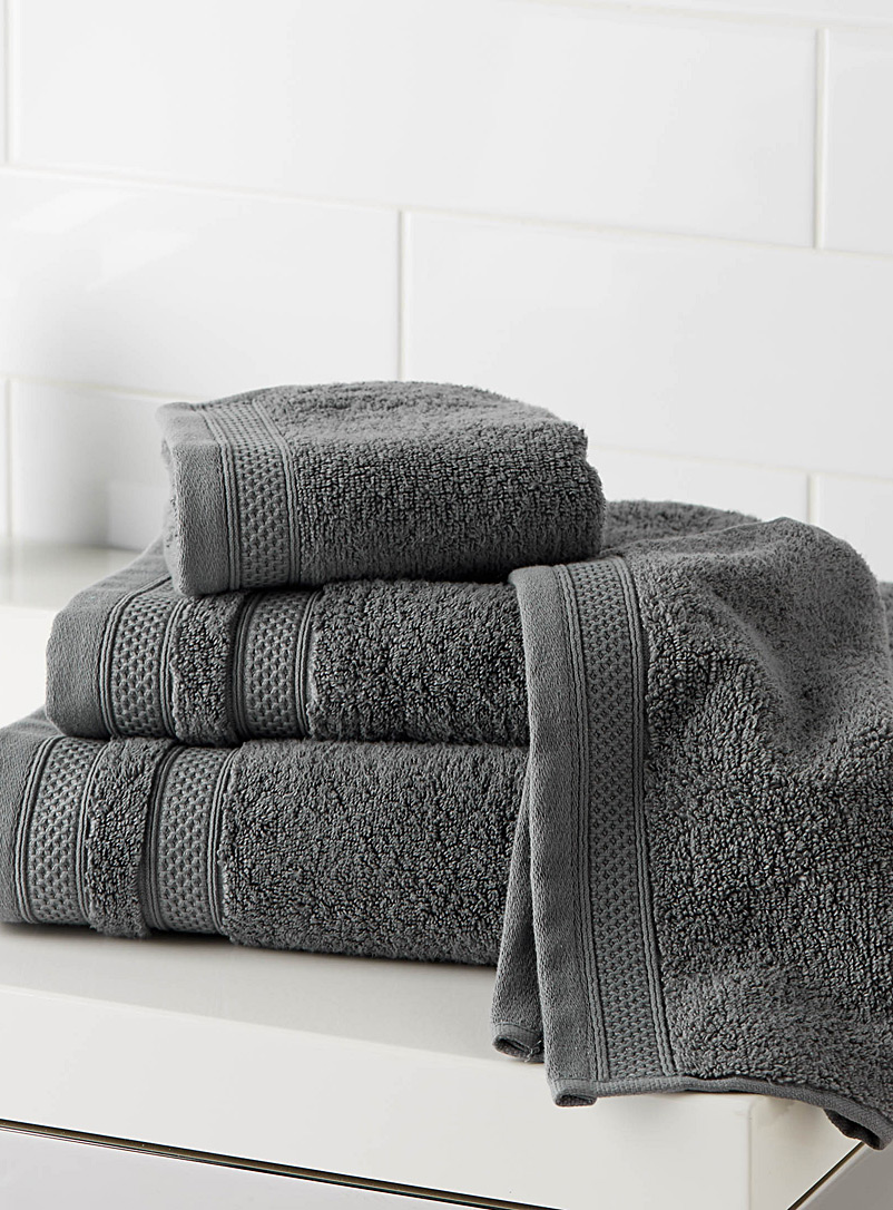 Cotton and modal towels - Superior Quality - Dark Grey