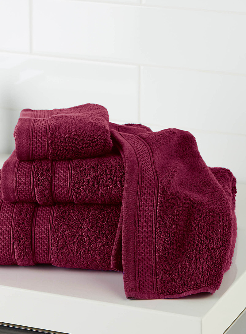 Cotton and modal towels - Superior Quality - Cherry Red