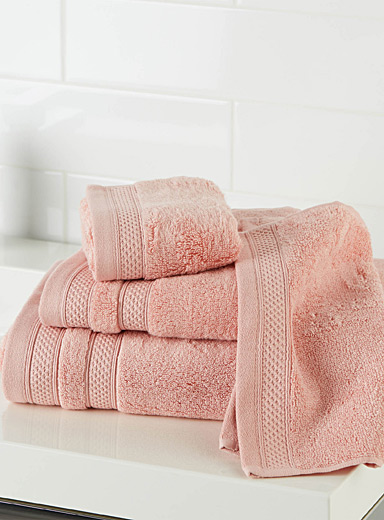 Simons Maison Dusky Pink Cotton and modal towels