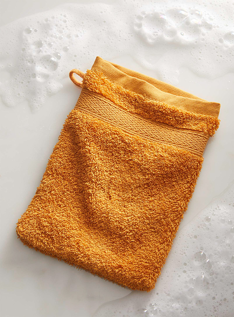 Simons Maison Honey Egyptian cotton wash mitt