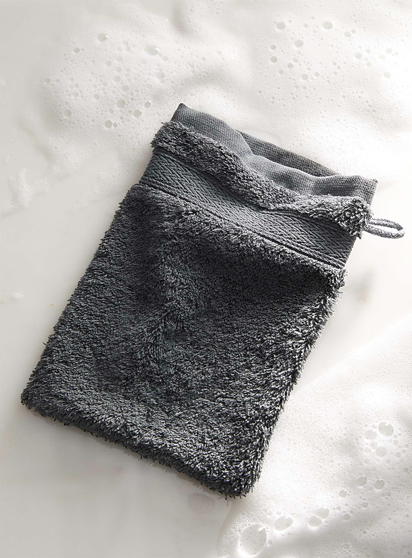 Egyptian cotton wash mitt - Solid - Dark Grey