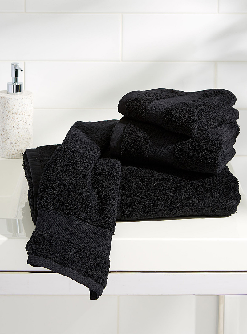 Simons Maison Black Egyptian cotton towels