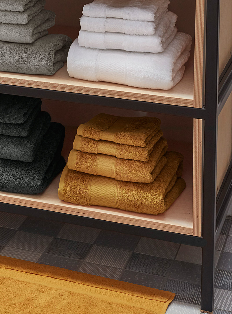 Simons Maison Honey Egyptian cotton towels