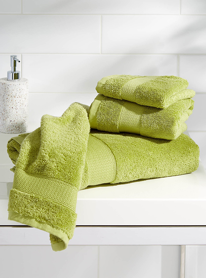 Egyptian cotton towels - Solid - Lime Green