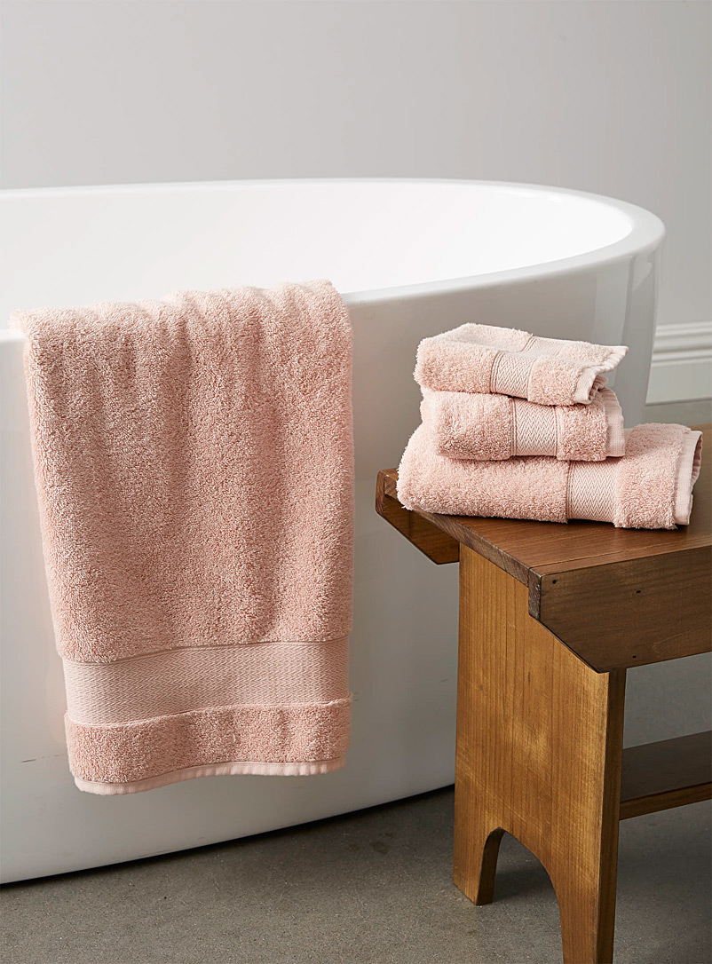 Simons Maison Pink Egyptian cotton towels