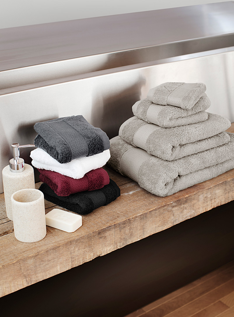 Egyptian cotton towels - Solid - Silver